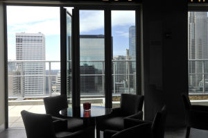 Fahrenheit features a 360 degree view of Charlotte's downtown