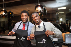 Celebrated Chef Rocco Whalen & the Carolina Panthers captained by Strong Safety Roman Harper raised money for Hope for Tomorrow at Fahrenheit on Monday Dec 15th