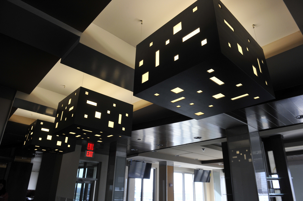 Modern light fixtures will complement the night skyline